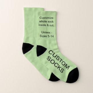 Custom Customizable Small Pale Green Socks 1