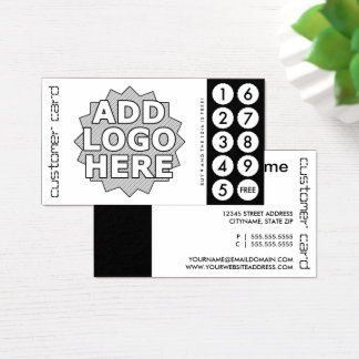 custom cut out punch cards