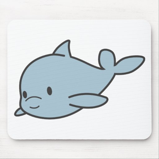 Custom Cute Baby Dolphin Cartoon | Zazzle