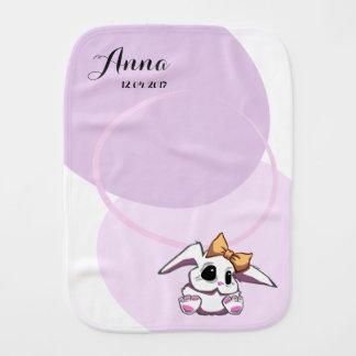 Custom Cute Baby Girl Burp Cloth