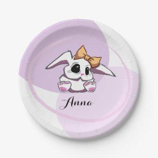 Custom Cute Baby Girl Paper Plate