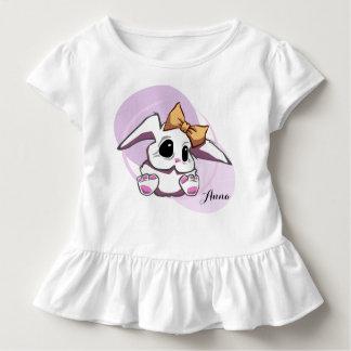 Custom Cute Baby Girl Toddler Ruffle Tee