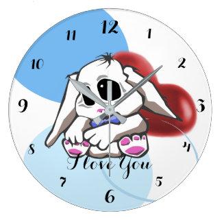 Custom Cute Bunny Clock