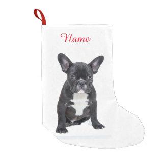 Custom Cute French Bulldog Puppy Small Christmas Stocking