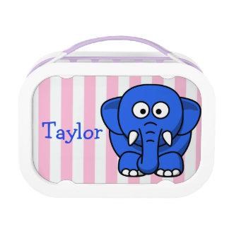 Custom Cute Funny Cartoon Elephant Lunch Box