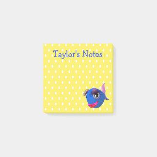 Custom Cute Funny Cartoon Fish Post-it Notes