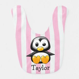 Custom Cute Funny Cartoon Penguin Bib