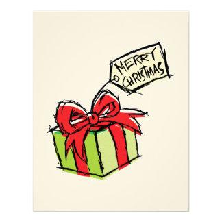 Custom Cute  Gift Box with Merry Christmas Tag Custom Invite