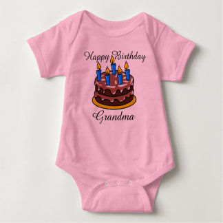 Custom cute Happy Birthday Grandma baby Shirt