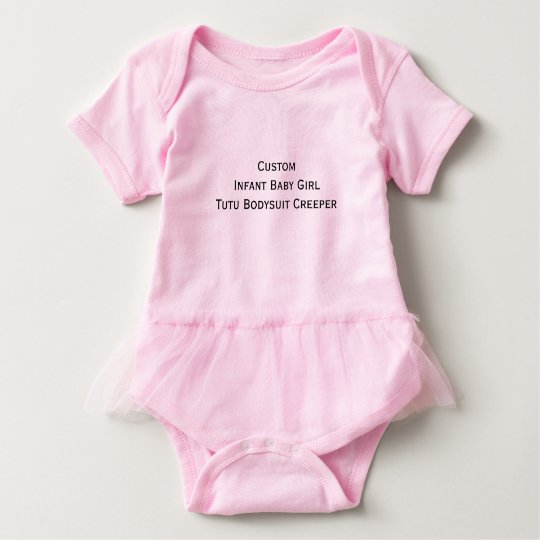 Custom Cute Infant Baby Girl Tutu Bodysuit Creeper