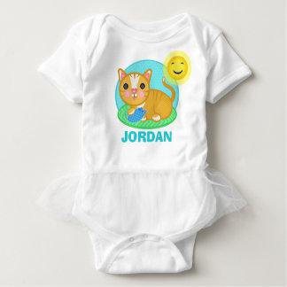 Custom Cute Kitty Cat Baby Jersey Bodysuit