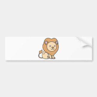 Custom Cute Lion Cartoon Logo Bumper Sticker