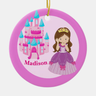 Custom Cute Princess Girl Christmas Ornament