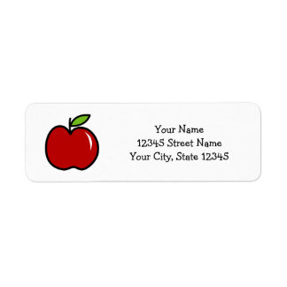 Custom cute red apple kindergarten school teacher