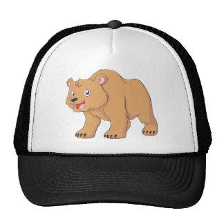 Custom Cute Smiling Cartoon Bear Mesh Hat