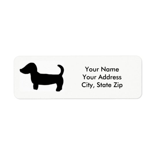 Custom Dachshund Return Address Labels