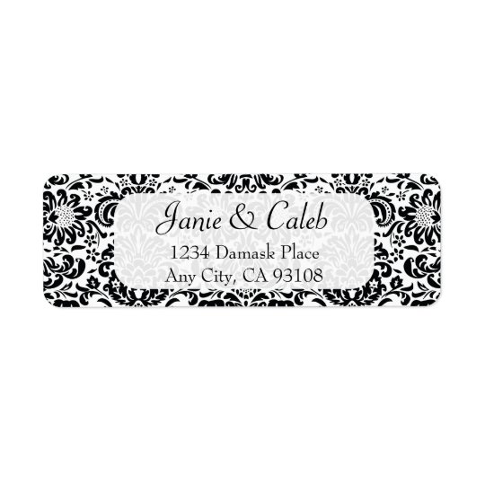 Custom Damask Return Address Labels