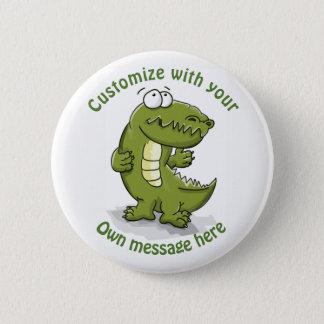 Custom Dancing Crocodile Cartoon 6 Cm Round Badge