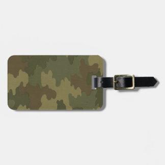 Custom Dark Camouflage Luggage Tag
