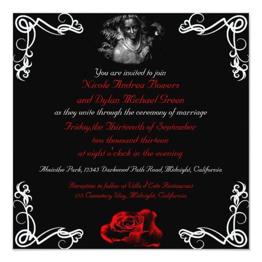 Custom Dark Goth Wedding Invitations