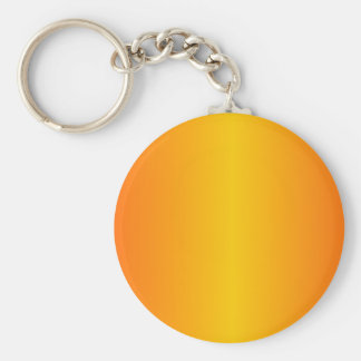 Custom Dark Orange Yellow Basic Round Button Key Ring