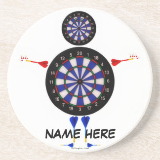 Custom Dart Board Man Fun Coaster