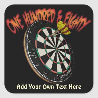 Custom Darts Design Square Sticker