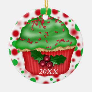 CUSTOM DATE/NAME CUPCAKE Ornament 2012