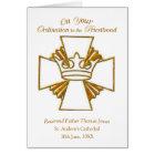 Custom Date, Name Ordination Congratulations, Gold Card