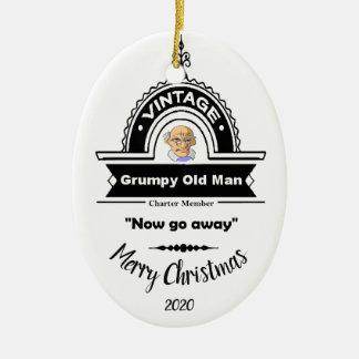 Custom Dated Christmas Grumpy Old Man Club Fun Christmas Ornament