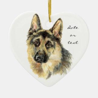 Custom Dated German Shepherd, Dog Pet, Animal Christmas Ornament