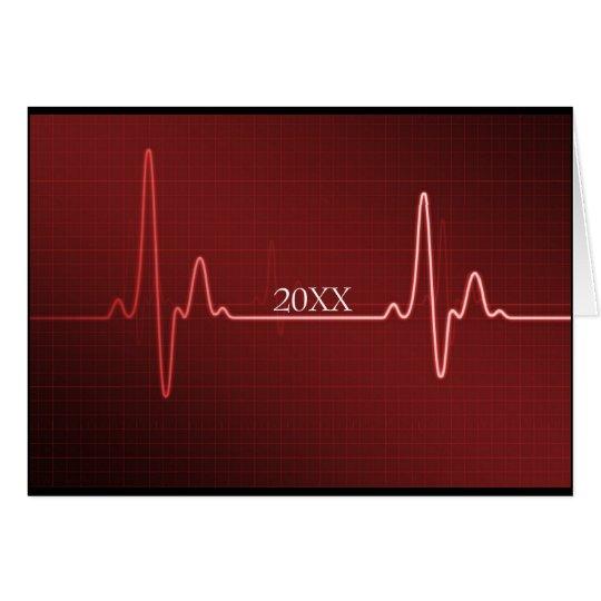 Custom Dated Medical Healthcare Graduation Card