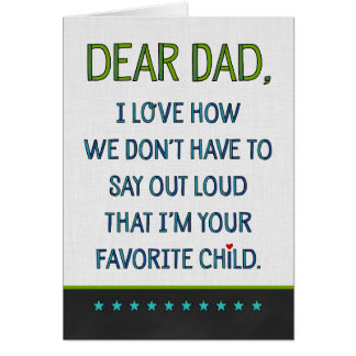 Custom Dear Dad Card