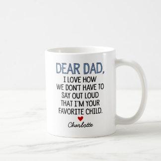 Custom Dear Dad Coffee Mug