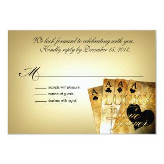 ::CUSTOM:: Dee & Jon Las Vegas RSVP 5x3.5 9 Cm X 13 Cm Invitation Card