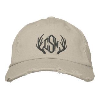 Custom Deer Antler Monogram Cap Embroidered Cap