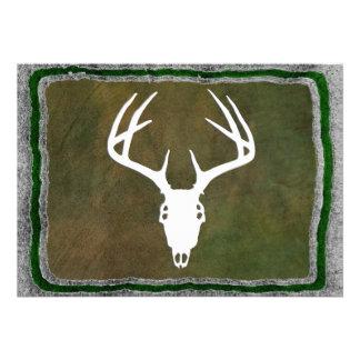 Custom Deer Hunting Skull Invites