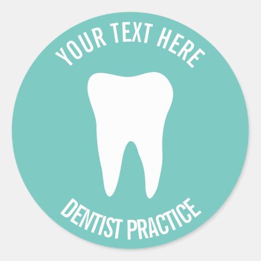 Custom dentist dental office dentistry tooth logo round