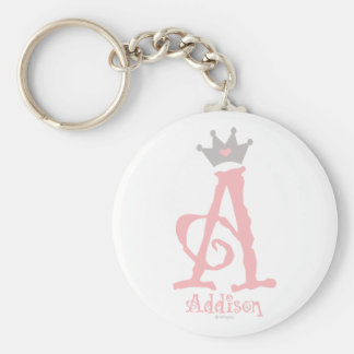 Custom Design - Addison Basic Round Button Key Ring