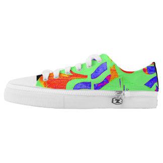 Custom DESIGN BY FRANK MOTHE.  Zipz Low Top Shoes.