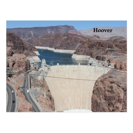 Custom design post card of the Hoover Dam