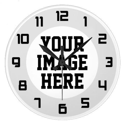 Custom Quot Design Your Own Quot Unique Wall Clock Zazzle
