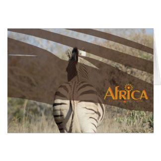 Custom designed African zebra note card. Card