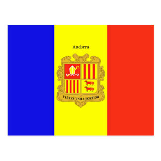 Custom-Designed Flag of Andorra postcard