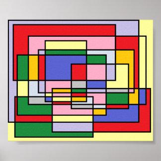 Custom designed geometric print poster colorful