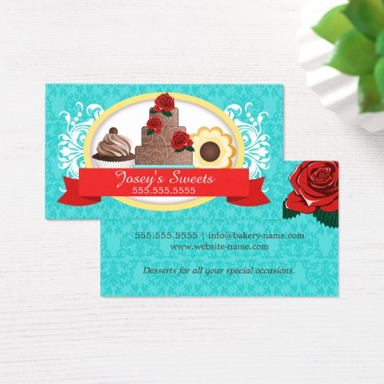 Custom Desserts Bakery Business Card
