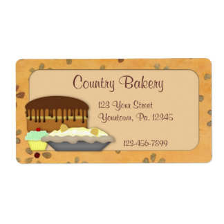 Custom Desserts Label Shipping Label