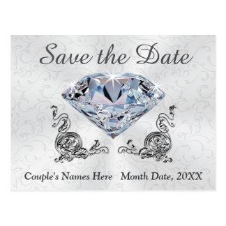 Custom Diamond Wedding Save the Date Post Cards