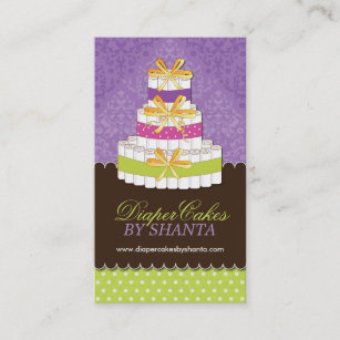 Diaper cake business cards zazzle uk custom diaper cakes business cards reheart Gallery