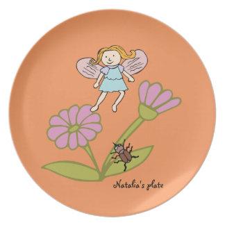 Custom Dinner Plate Flower Fairy with wings